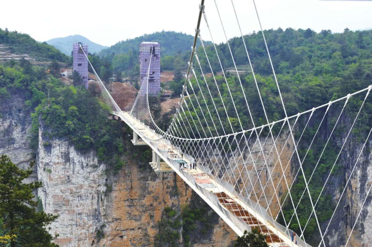 张家界大桥谷玻璃门桥